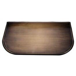 Placa protectie alama patinata 50x70x0,6cm rotunjita