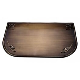 Placa protectie cu ornamente alama patinata 40x70x0,6cm captusita cu pasla