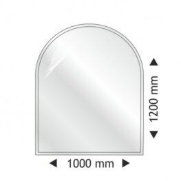 Placa protectie semirotunda 1000x1200 mm
